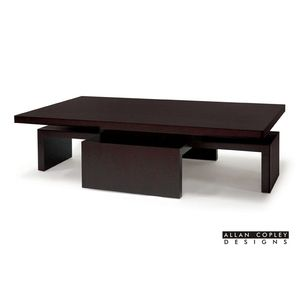 Sebring Rectangular Cocktail Table in Mocha on Oak Finish by Allan Copley Designs