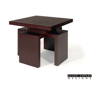 Sebring Square End Table in Mocha on Oak Finish by Allan Copley Designs