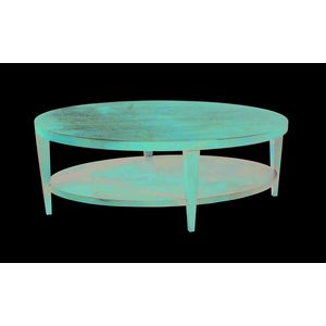 Marla Oval Cocktail Table with Shelf in Espresso on Birch Finish by Allan Copley Designs