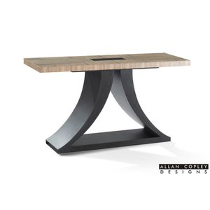 Bonita Rectangular Console Table with Zebrawood Top and Mocha on Oak Base by Allan Copley Designs