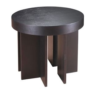 La Jolla Round End Table in Espresso Finish by Allan Copley Designs