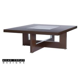 Bridget Square Cocktail Table with Glass Inset by Allan Copley Designs
