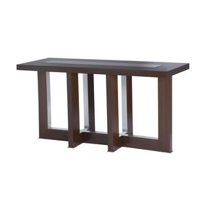 Bridget Rectangular Console Table with Glass Inset by Allan Copley Designs