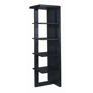 Samantha 4-Shelf Bookcase in Espresso Finish by Allan Copley Designs