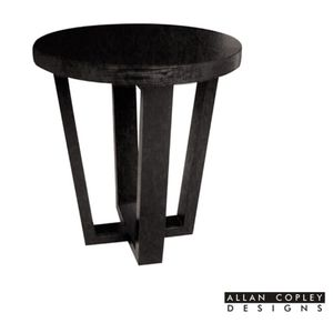 Andy Round End Table in Black on Oak Finish by Allan Copley Designs