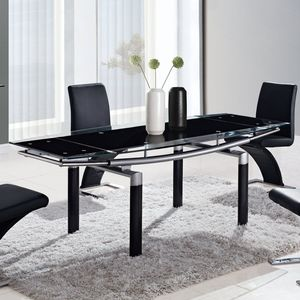 rectangular glass top dining table by global furniture