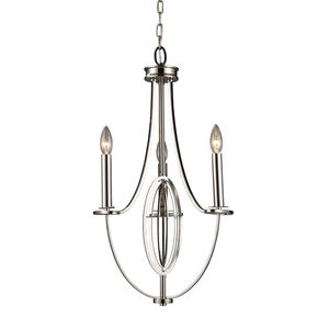 Dione 3-Light Chandelier In Polished Nickel by Elk Lighting