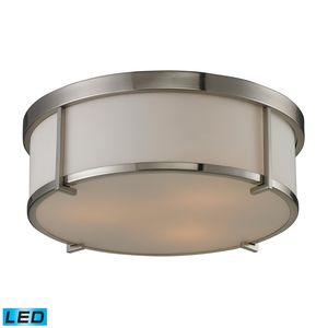 Flushmounts 3 Light Flushmount In Brushed Nickel by Elk Lighting