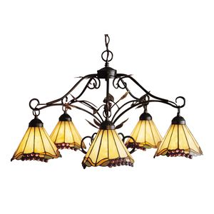 Grape Trellis 5-Light Chandelier In Antique Iron by Elk Lighting