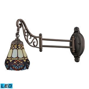 Mix-N-Match 1-Light Swingarm Sconce In Tiffany Bronze by Elk Lighting