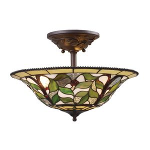 Latham 3-Light Semi Flush In Tiffany Bronze W/ Highlight by Elk Lighting