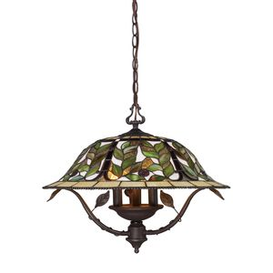 Latham 3-Light Chandelier In Tiffany Bronze W/ Highlight by Elk Lighting