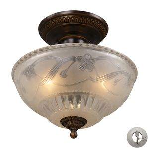 Restoration 3-Light Semi Flush In Golden Bronze  by Elk Lighting