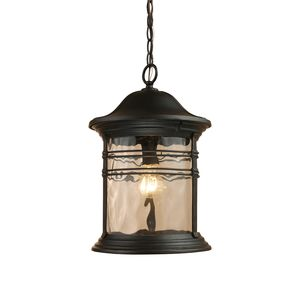 Madison 1-Light Outdoor Pendant In Matte Black by Elk Lighting
