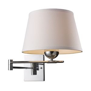 Lanza 1-Light Swing Arm Sconce In Polished Chrome by Elk Lighting