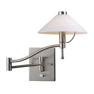 Swingarm 1-Light Sconce In Satin Nickel by Elk Lighting