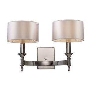 Pembroke 2-Light Sconce In Polished Nickel by Elk Lighting