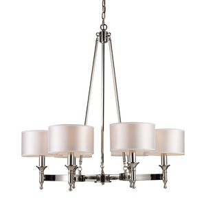 Pembroke 6-Light Chandelier In Polished Nickel by Elk Lighting