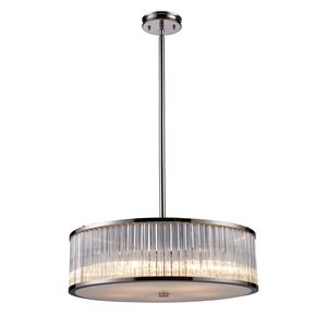 Braxton 5-Light Pendant In Polished Nickel by Elk Lighting