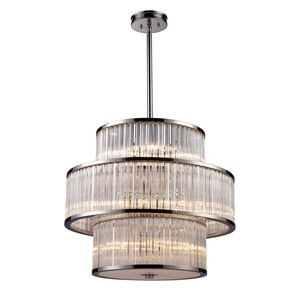 Braxton 15-Light Pendant In Polished Nickel by Elk Lighting