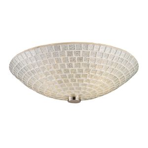 Fusion 2-Light Semi-Flush In Satin Nickel With Silver Mosaic Glass by Elk Lighting