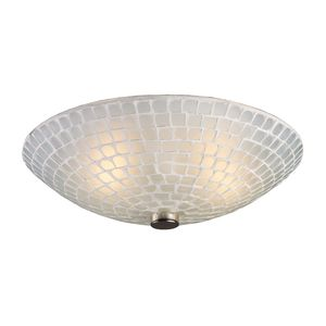 Fusion 2-Light Semi-Flush In Satin Nickel And White Mosaic Glass by Elk Lighting