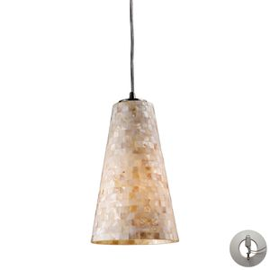 Capri 1-Light Pendant In Satin Nickel  by Elk Lighting