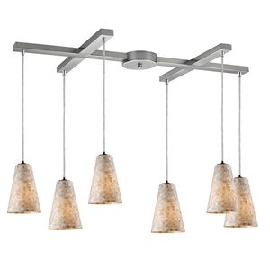 Capri 6-Light Pendant In Satin Nickel by Elk Lighting