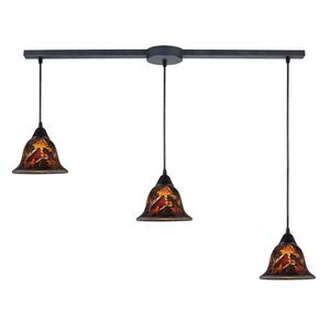Firestorm 3-Light Pendant In Dark Rust by Elk Lighting