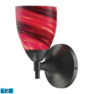 Celina 1-Light Sconce In Dark Rust With Autumn Glass by Elk Lighting