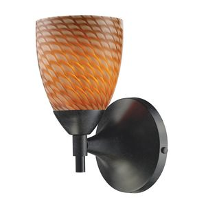 Celina 1-Light Sconce In Dark Rust With Coco Glass by Elk Lighting
