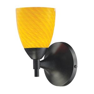 Celina 1-Light Sconce In Dark Rust With Canary Glass by Elk Lighting