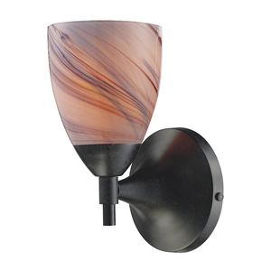 Celina 1-Light Sconce In Dark Rust With Creme Glass by Elk Lighting