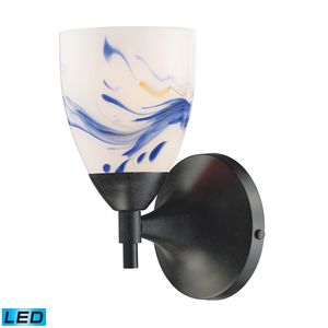 Celina 1-Light Sconce In Dark Rust And Mountain Glass by Elk Lighting