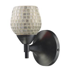 Celina 1-Light Sconce In Dark Rust With Silver Glass by Elk Lighting