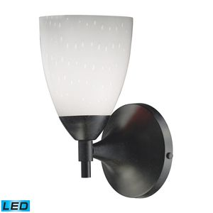 Celina 1-Light Sconce In Dark Rust And Simple White Glass by Elk Lighting