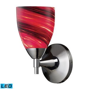 Celina 1-Light Sconce In Polished Chrome With Autumn Glass by Elk Lighting