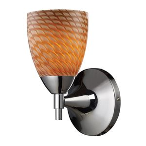 Celina 1-Light Sconce In Polished Chrome And Coco Glass by Elk Lighting
