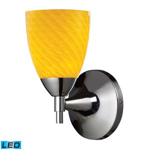 Celina 1-Light Sconce In Polished Chrome With Canary Glass by Elk Lighting