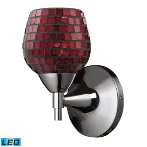 Celina 1-Light Sconce In Polished Chrome With Copper Glass by Elk Lighting