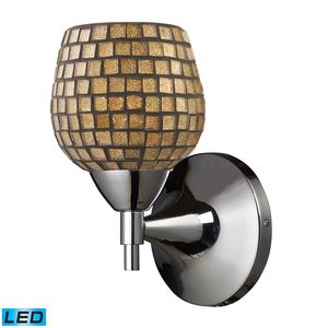 Celina 1-Light Sconce In Polished Chrome And Gold Glass by Elk Lighting