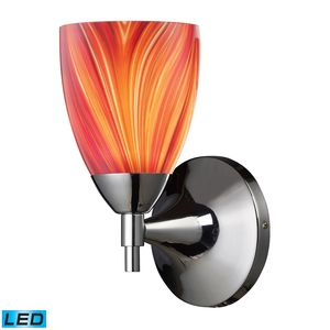 Celina 1-Light Sconce In Polished Chrome And Multi Glass by Elk Lighting