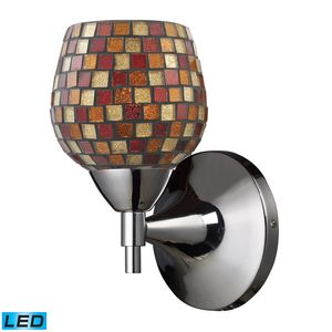 Celina 1-Light Sconce In Polished Chrome With Multi Fusion Glass by Elk Lighting