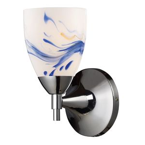 Celina 1-Light Sconce In Polished Chrome And Mountain Glass by Elk Lighting