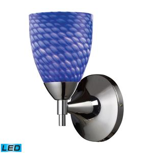 Celina 1-Light Sconce In Polished Chromw With Sapphire Glass by Elk Lighting