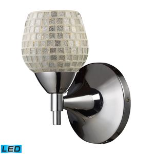 Celina 1-Light Sconce In Polished Chrome With Silver Glass by Elk Lighting