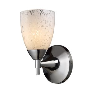 Celina 1-Light Sconce In Polished Chrome And Snow White  by Elk Lighting