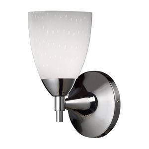 Celina 1-Light Sconce In Polished Chrome And Simple White Glass by Elk Lighting