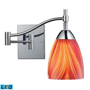 Celina 1-Light Swingarm Sconce In Polished Chrome And Multi Glass by Elk Lighting