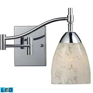Celina 1-Light Swingarm Sconce In Polished Chrome by Elk Lighting